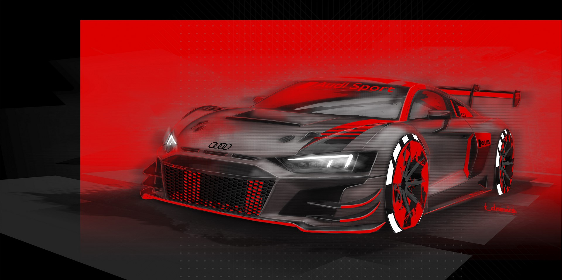Design Sketch Audi R8 LMS