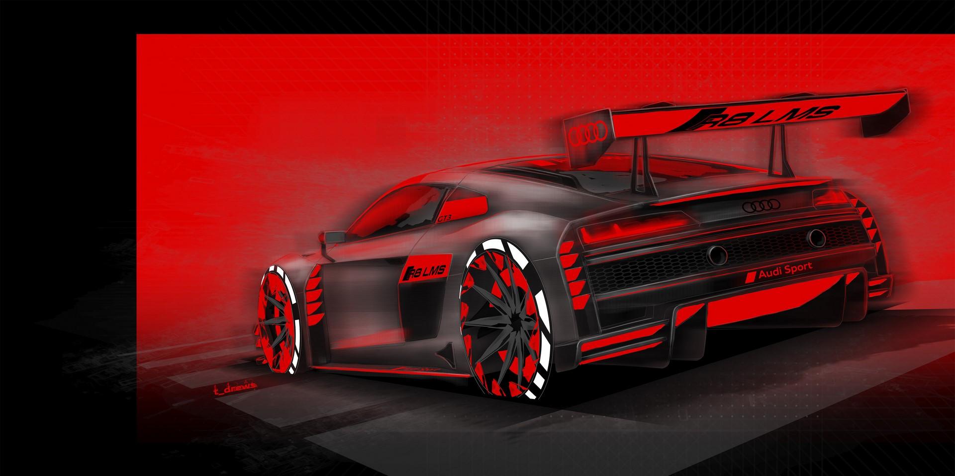 Design Sketch Audi R8 LMS
