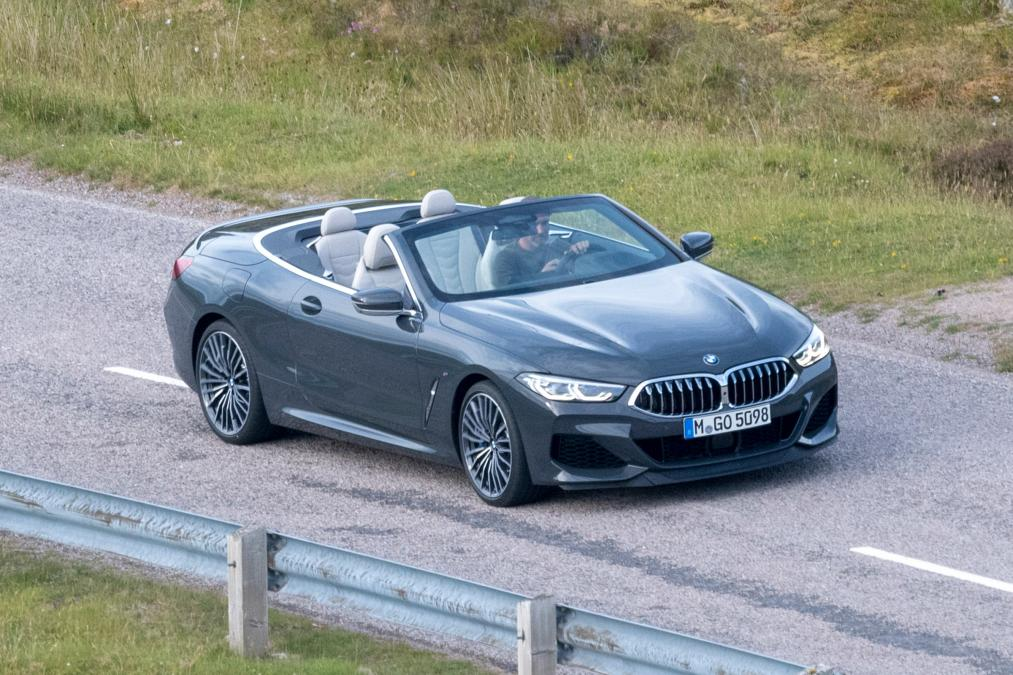 BMW 8-Series Cabrio 2019 spy photos (1)