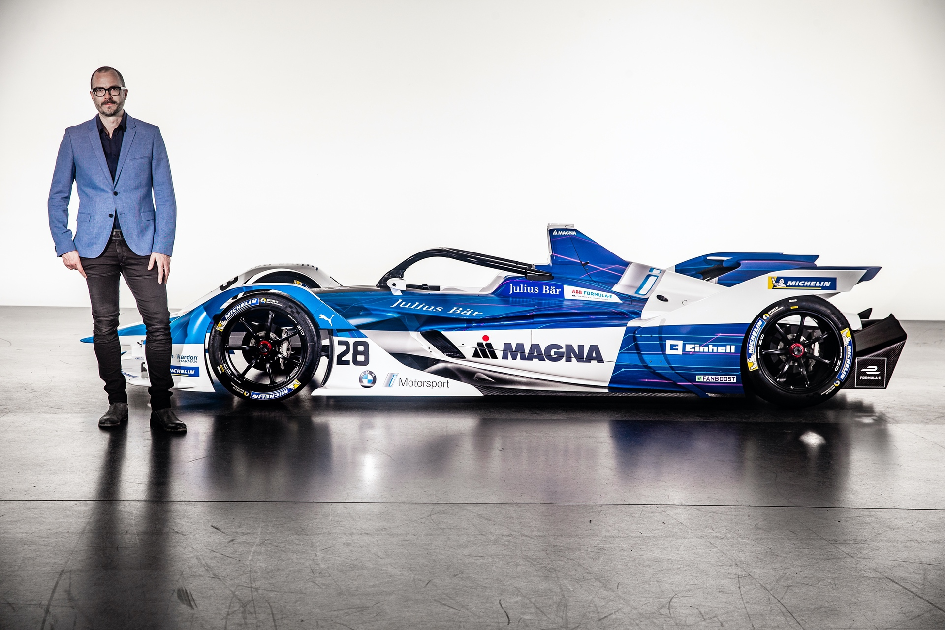 The new BMW iFE.18 for the ABB FIA Formula E Championship, Michael Scully, BMW Motorsport Head of Design (09/18).