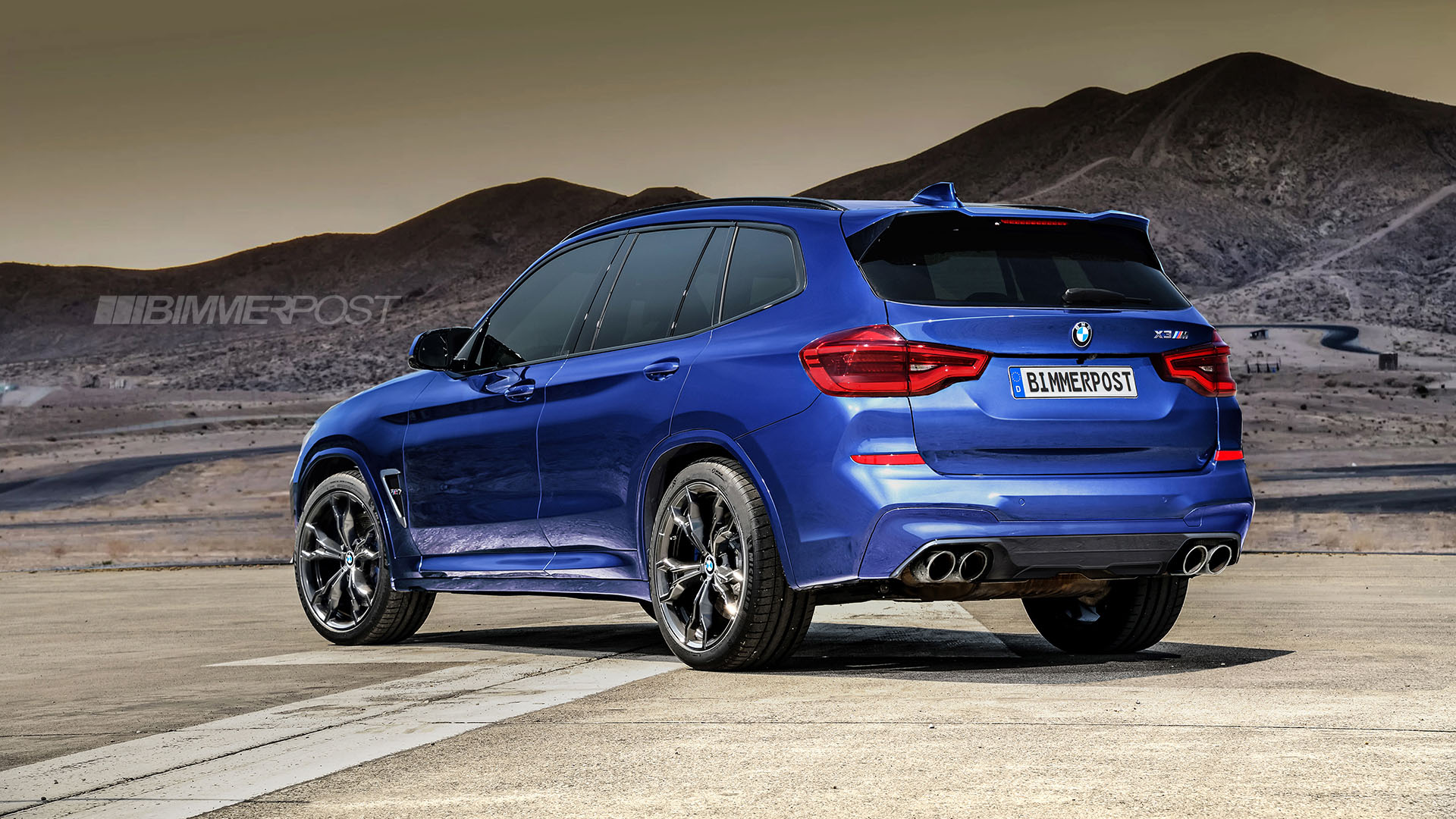 BMW X3 M and X4 M Renderings (2)