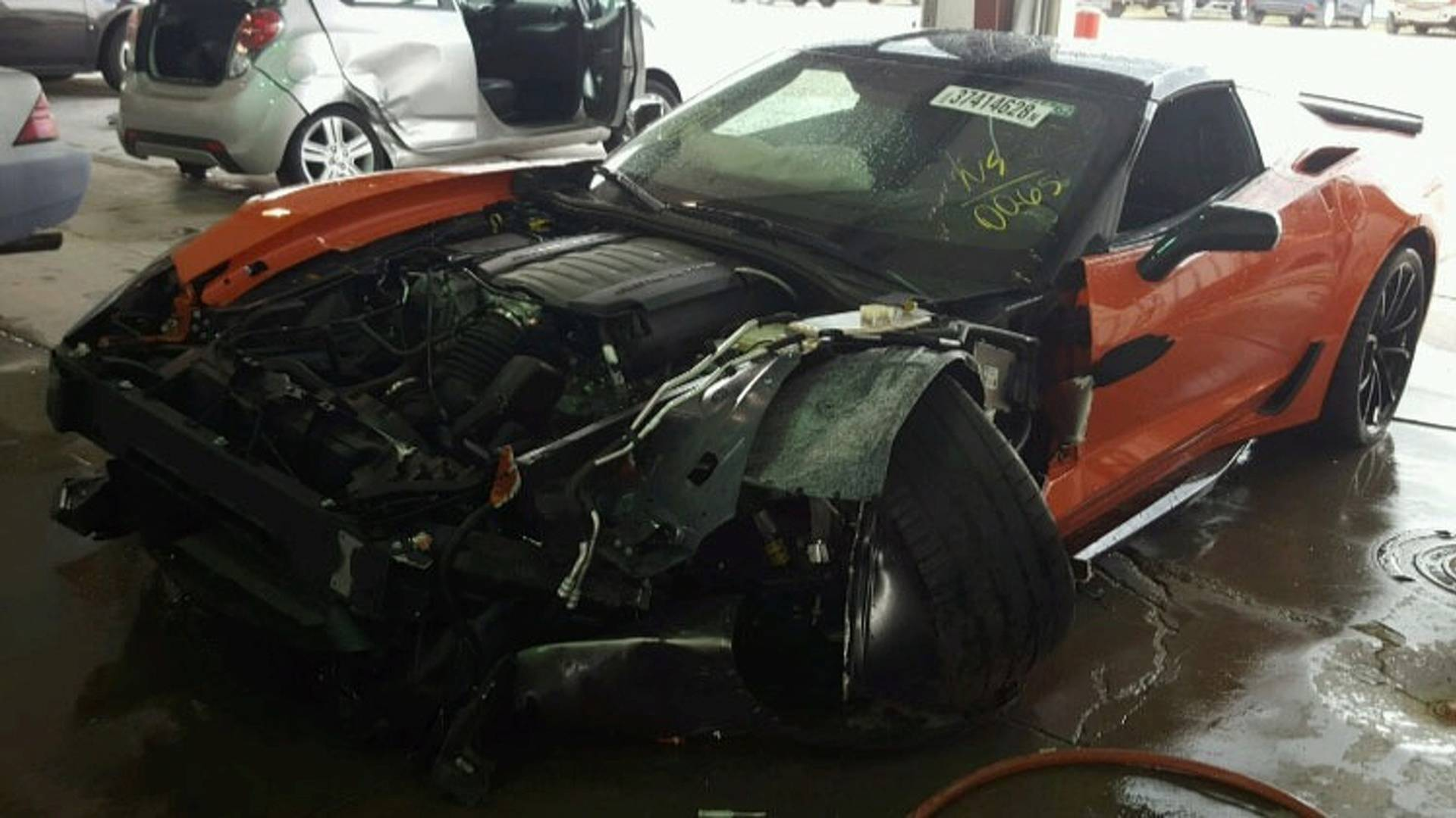 Chevrolet Corvette Grand Sport crashed (3)