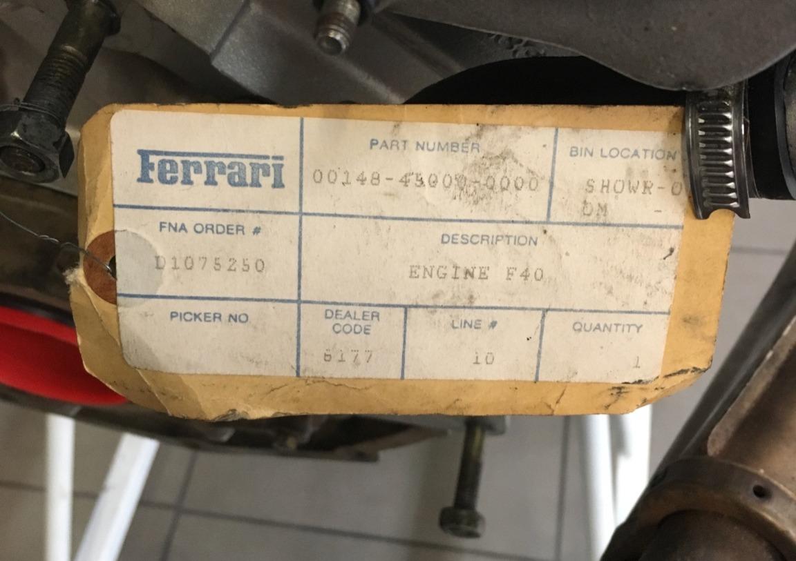 Ferrari F40 engine for sale (3)