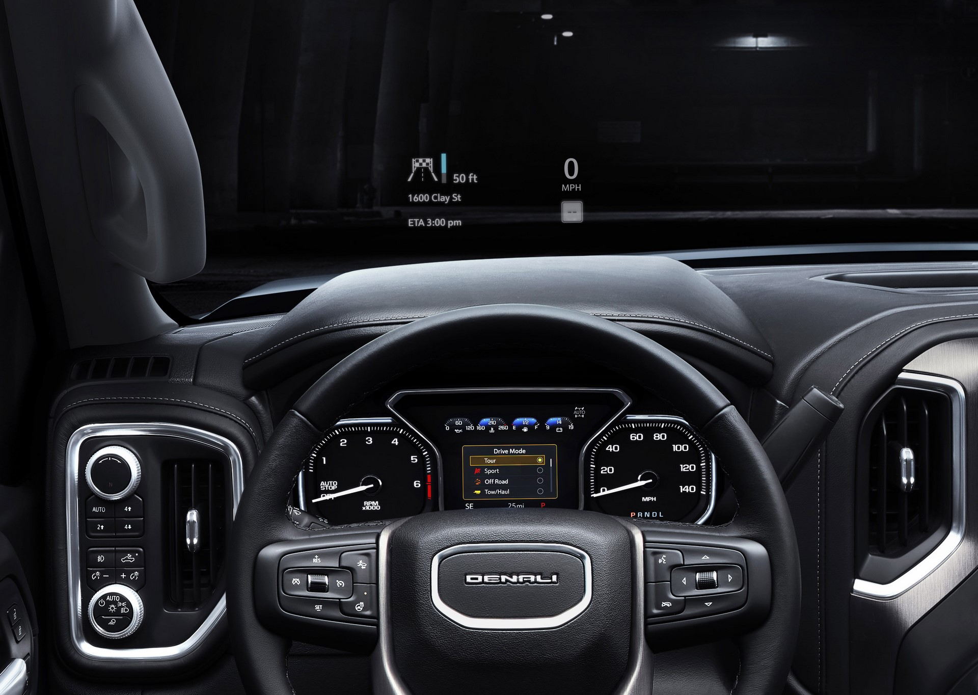 2019 GMC Sierra Denali Head-up display