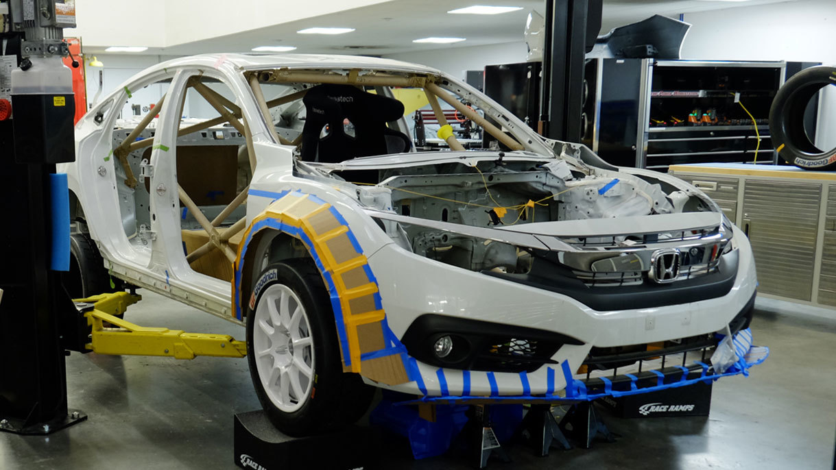 Honda Civic with hybrid powertrain by Clemson University (12)