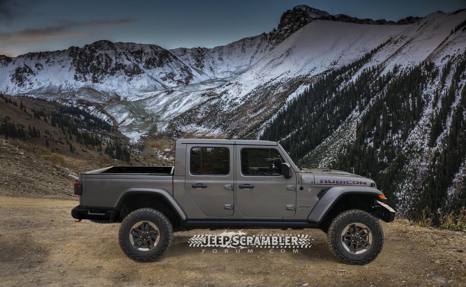 Jeep Scrambler Rubicon Pickup rendering (11)