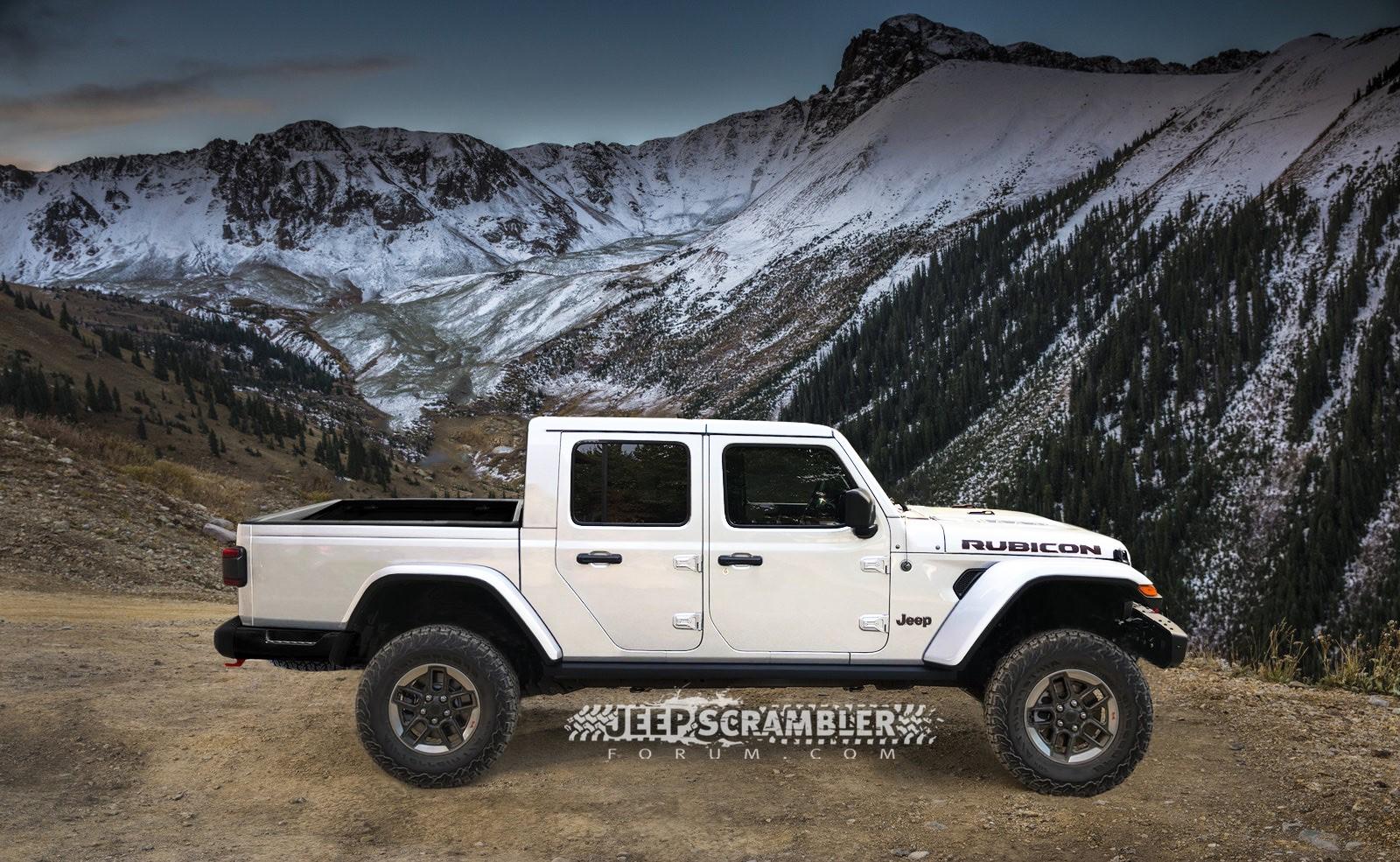 Jeep Scrambler Rubicon Pickup rendering (12)