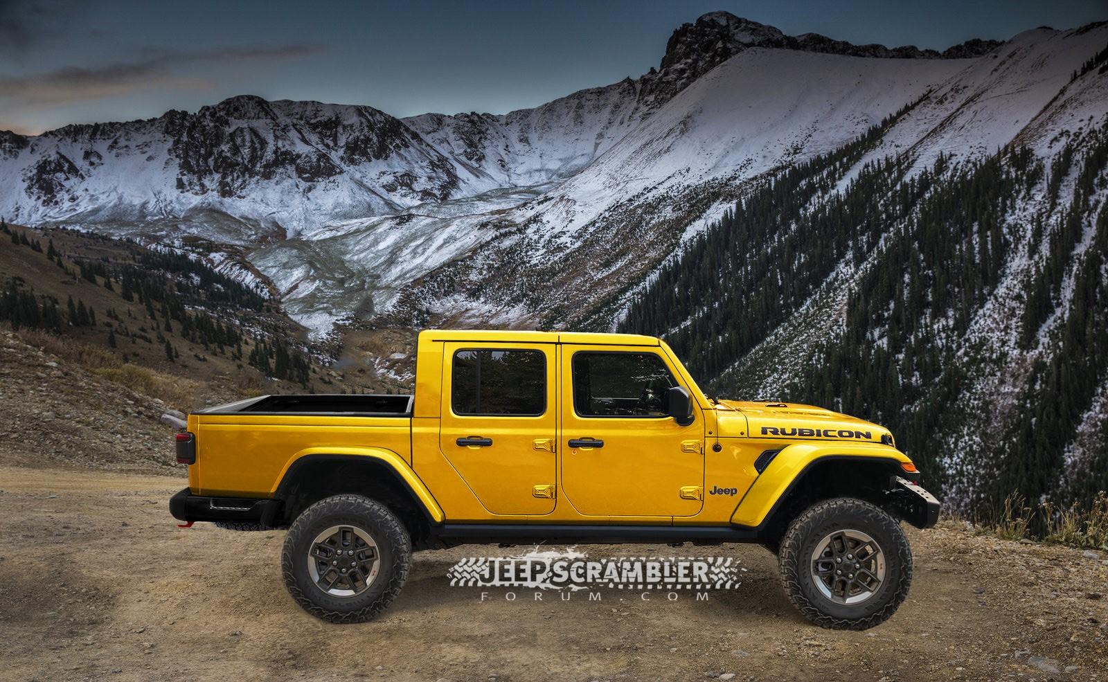 Jeep Scrambler Rubicon Pickup rendering (13)