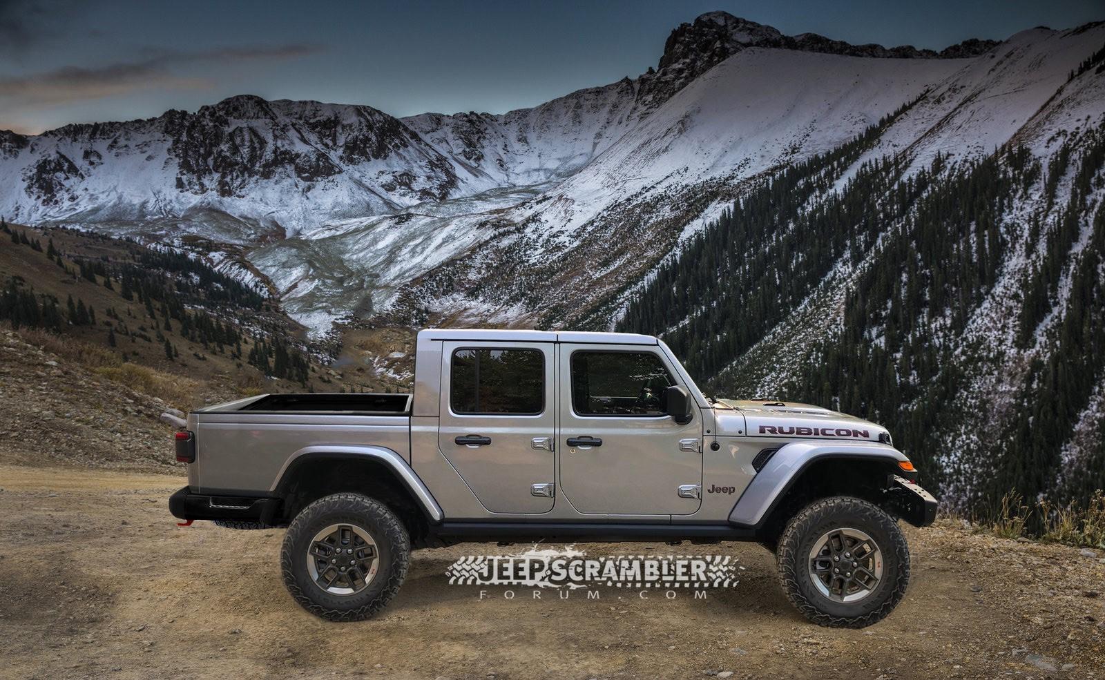 Jeep Scrambler Rubicon Pickup rendering (3)