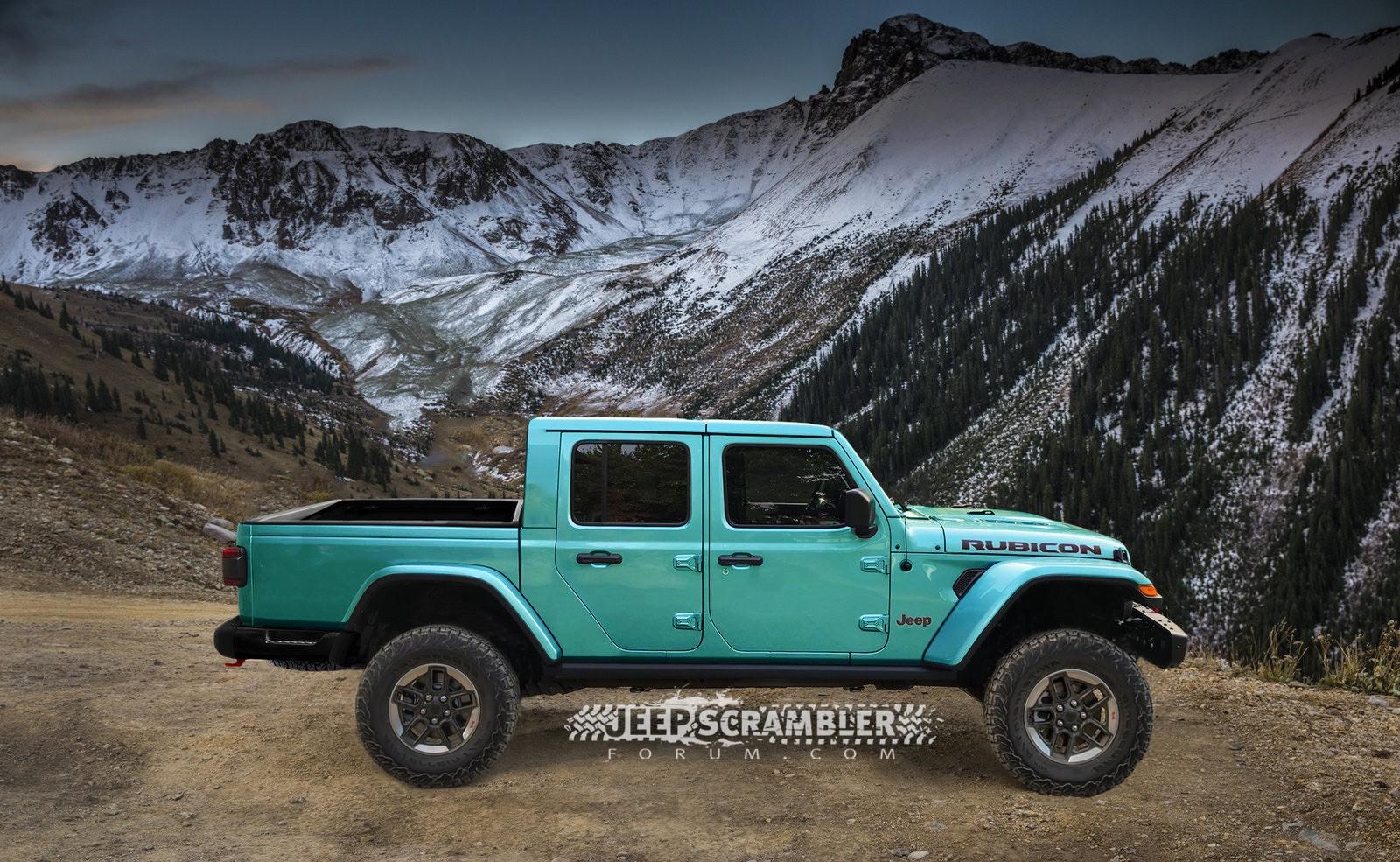 Jeep Scrambler Rubicon Pickup rendering (5)