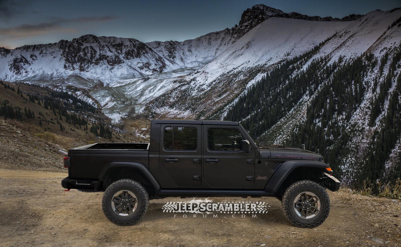 Jeep Scrambler Rubicon Pickup rendering (6)