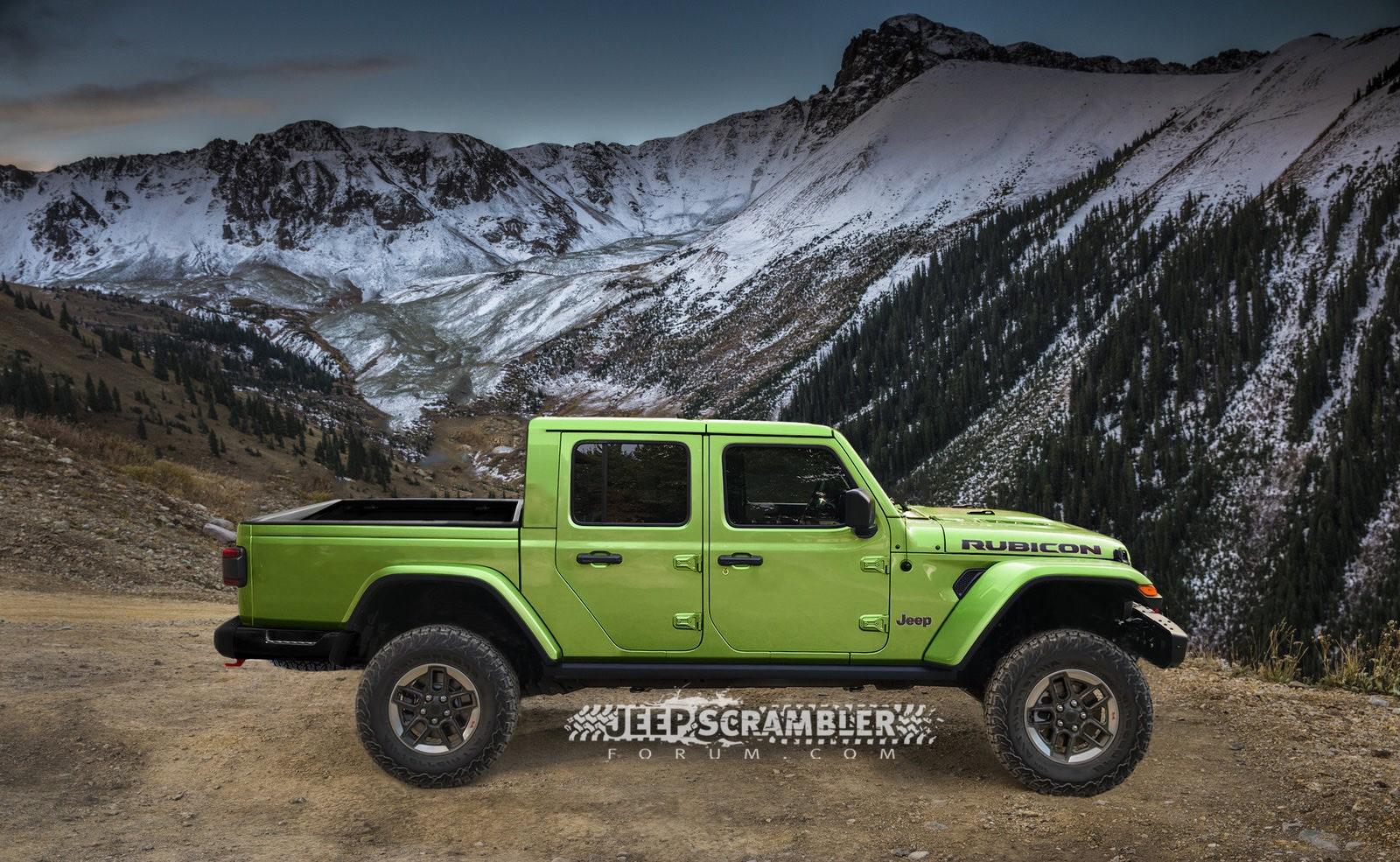 Jeep Scrambler Rubicon Pickup rendering (7)