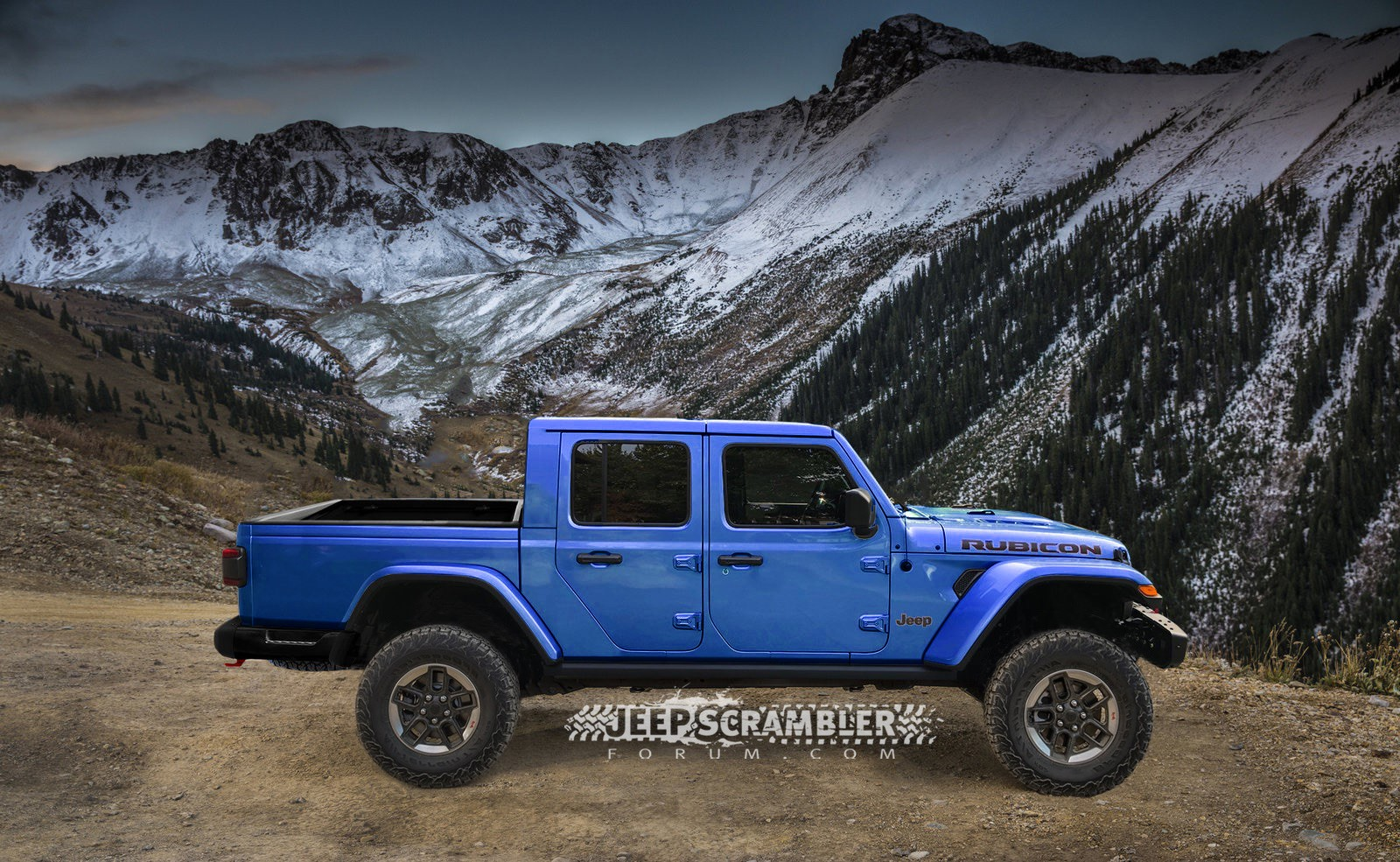 Jeep Scrambler Rubicon Pickup rendering (8)