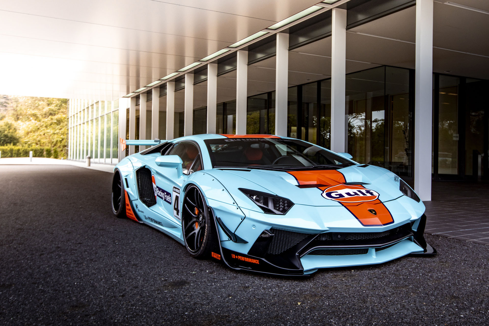 Lamborghini Aventador with Gulf Livery by Liberty Walk (1)