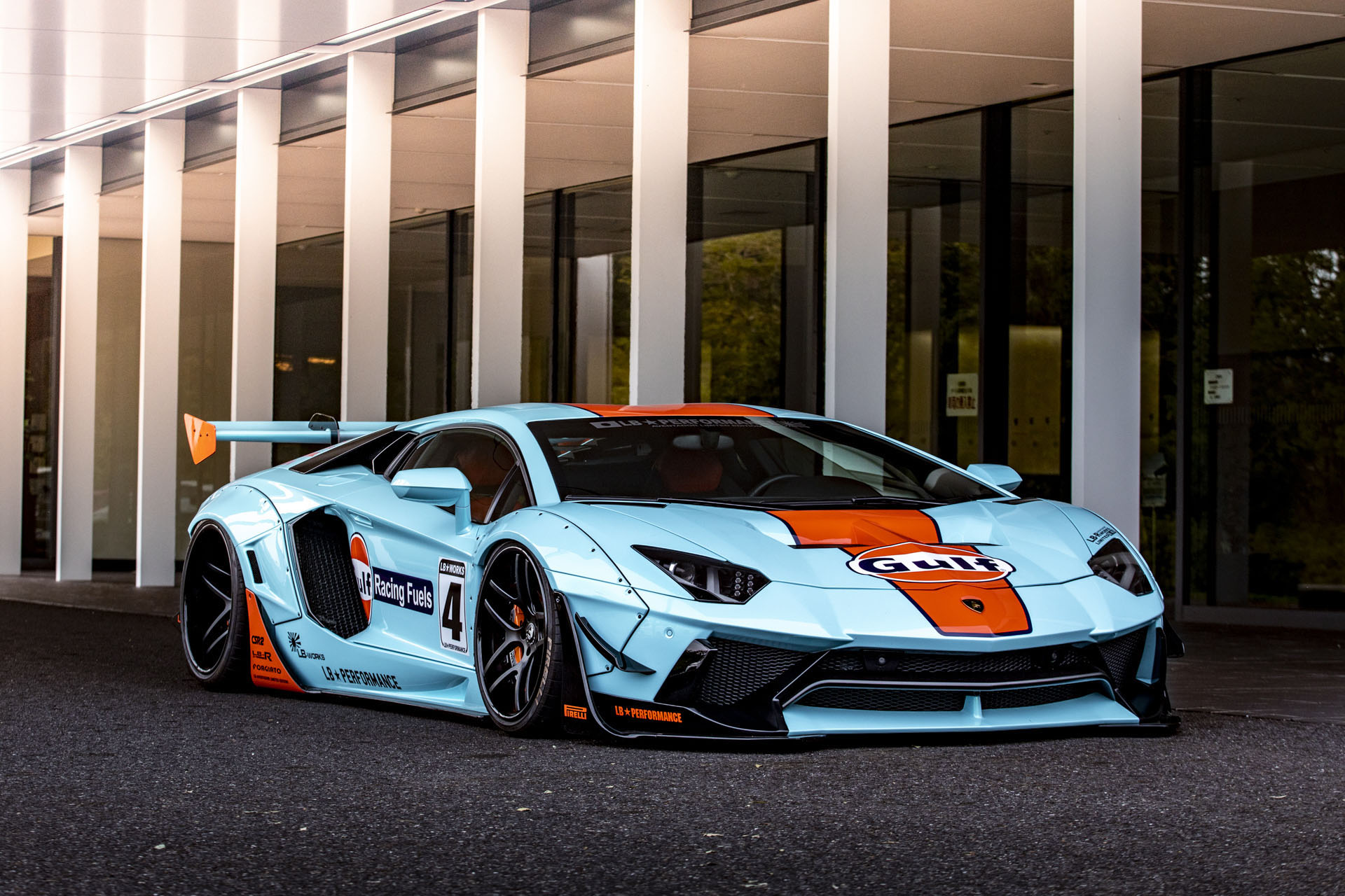 Lamborghini Aventador with Gulf Livery by Liberty Walk (2)