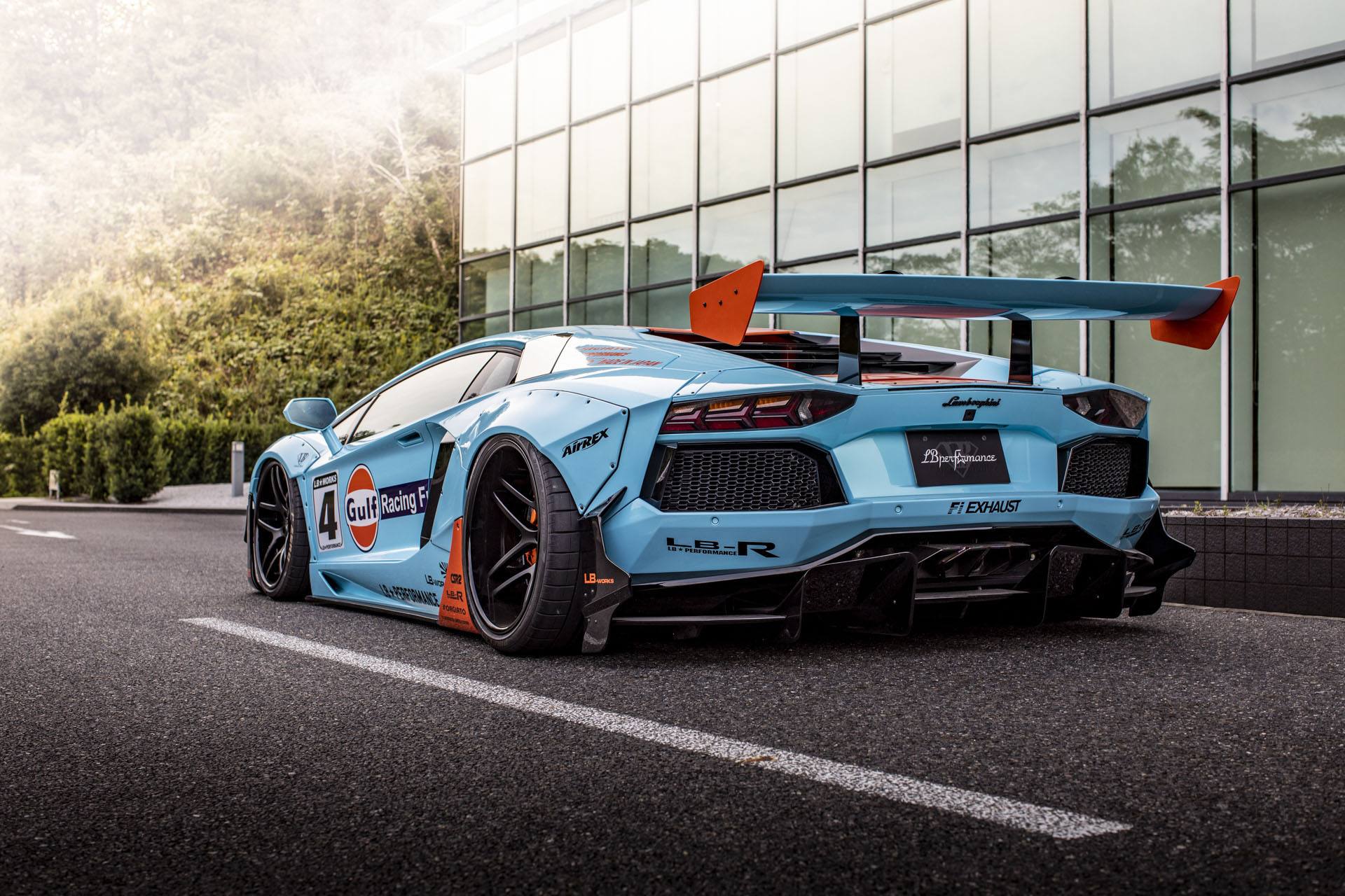 Lamborghini Aventador with Gulf Livery by Liberty Walk (3)
