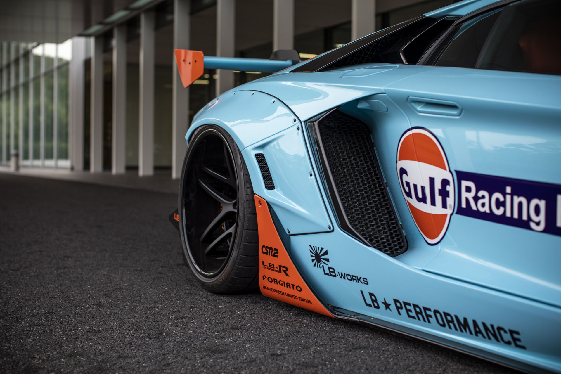 Lamborghini Aventador with Gulf Livery by Liberty Walk (6)