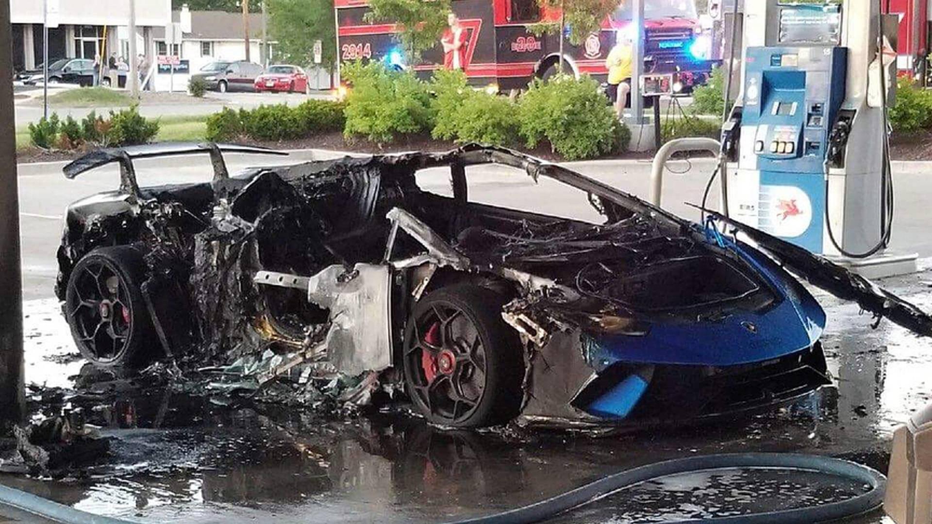 Lamborghini Huracan burned (4)