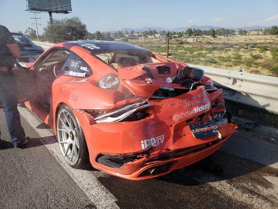 McLaren 650S And Porsche 911 Turbo S crashed (1)