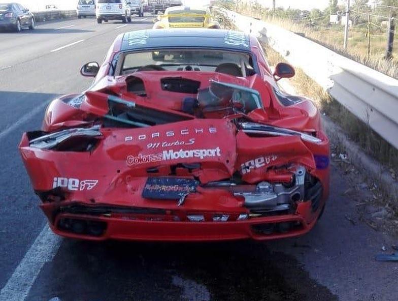 McLaren 650S And Porsche 911 Turbo S crashed (2)