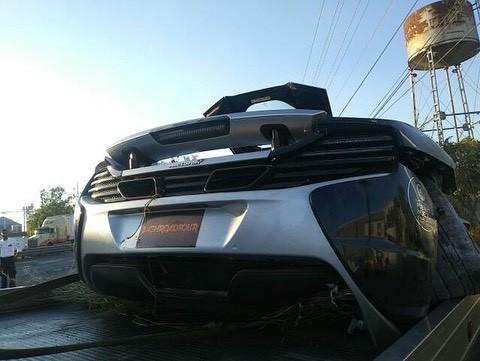 McLaren 650S And Porsche 911 Turbo S crashed (5)