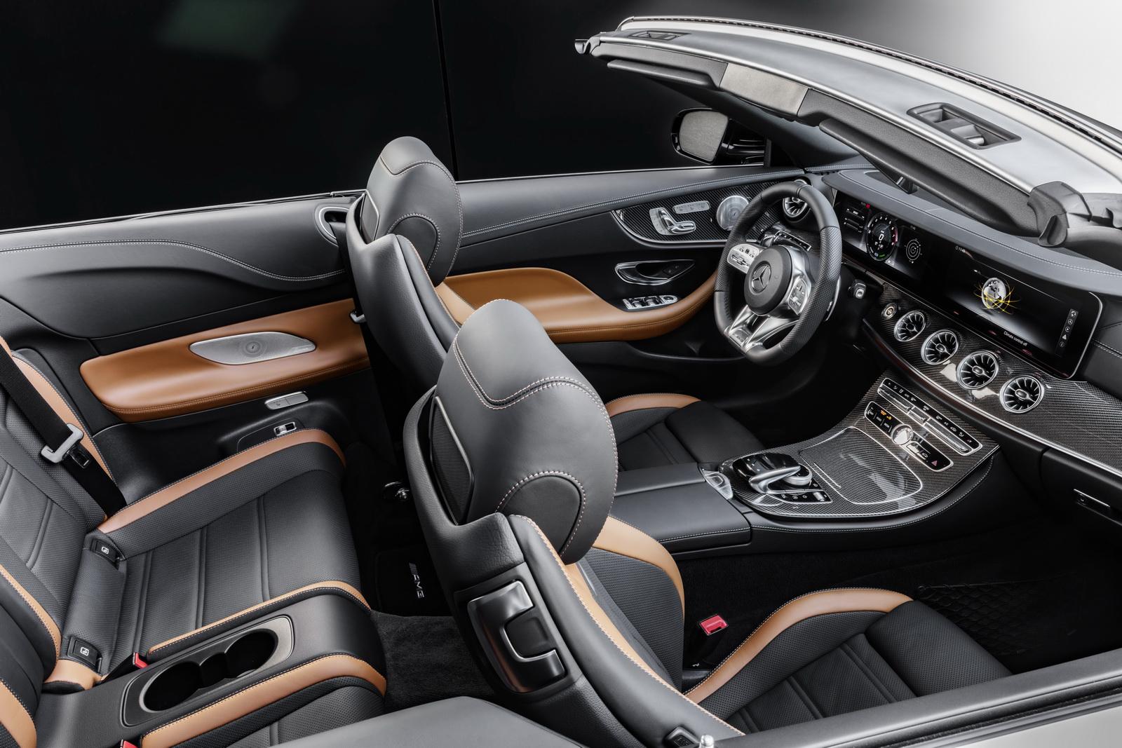 Mercedes-AMG E 53 4MATIC+ CabrioletExterieur: Obsidianschwarz metallicInterieur: Polsterung Leder Nappa Schwarz/Sattelbraun //Exterior: Obsidian black metallicInterior: Upholstery nappa leather black/saddle brown (Kraftstoffverbrauch kombiniert: 8,5 l/100 km; CO2-Emissionen kombiniert: 201 g/km)(fuel consumption combined: 8.5 l/100 km; CO2 emissions combined: 201 g/km)