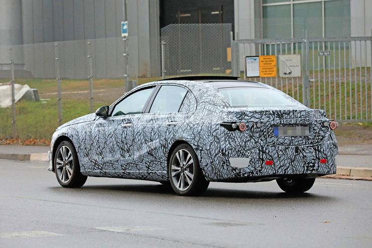 Mercedes C-Clas 2021 spy photos (8)