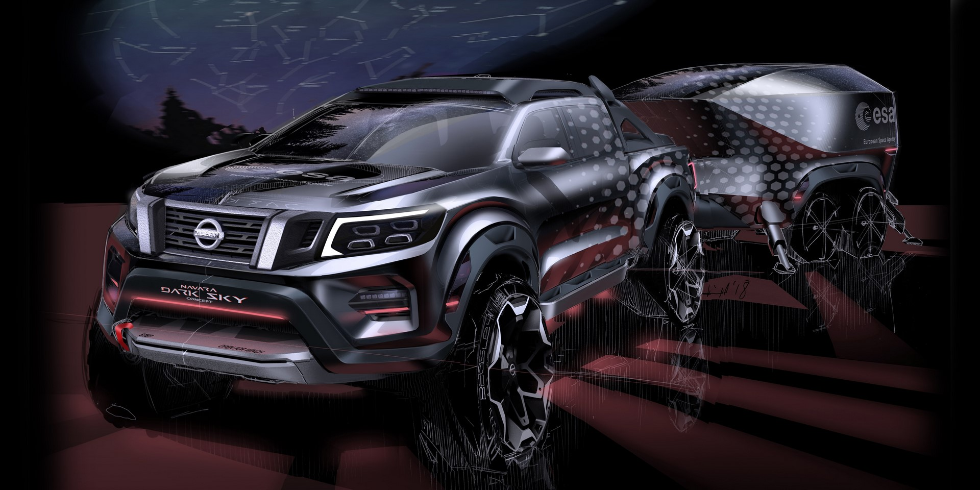 SKETCH: the Nissan Navara Dark Sky Concept