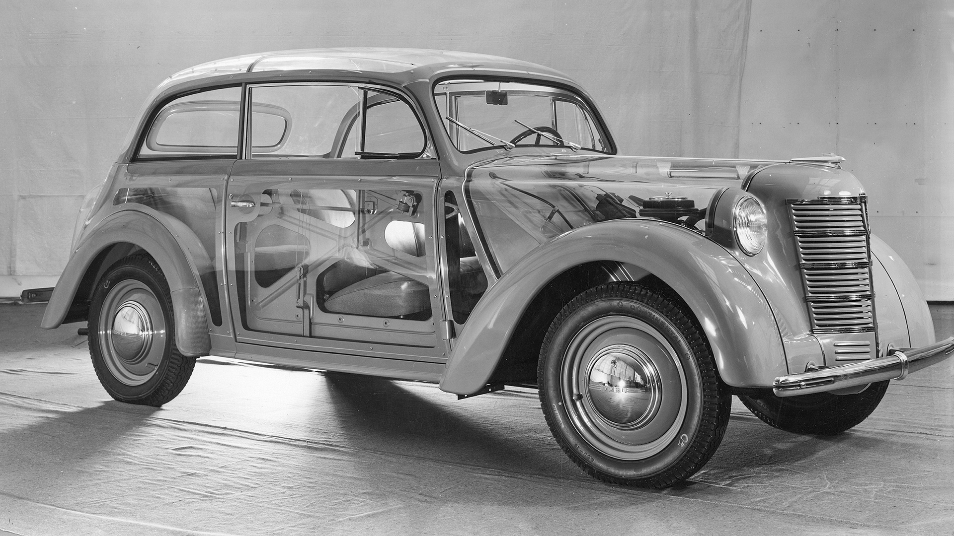 """gl‰serner"" Opel-Kadett (2-t¸rige Limousine) 1938"