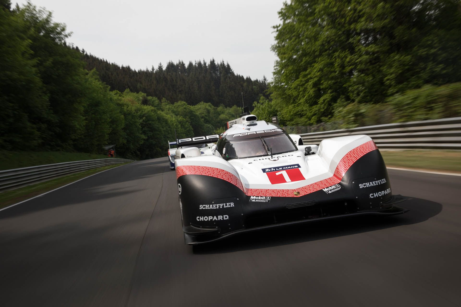 Porsche 919 Hybrid Evo and 956 at Nurburgring (1)