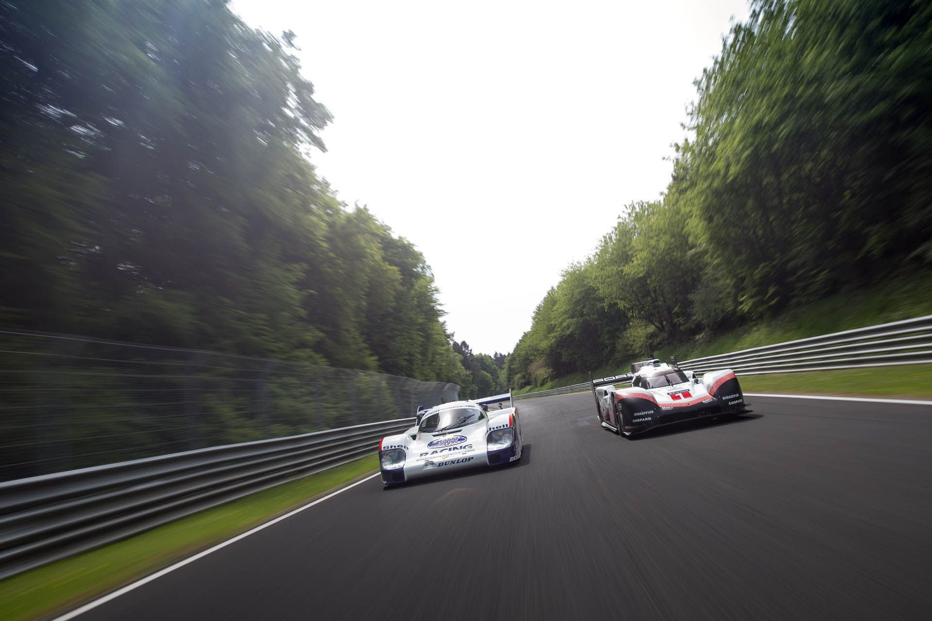 Porsche 919 Hybrid Evo and 956 at Nurburgring (4)