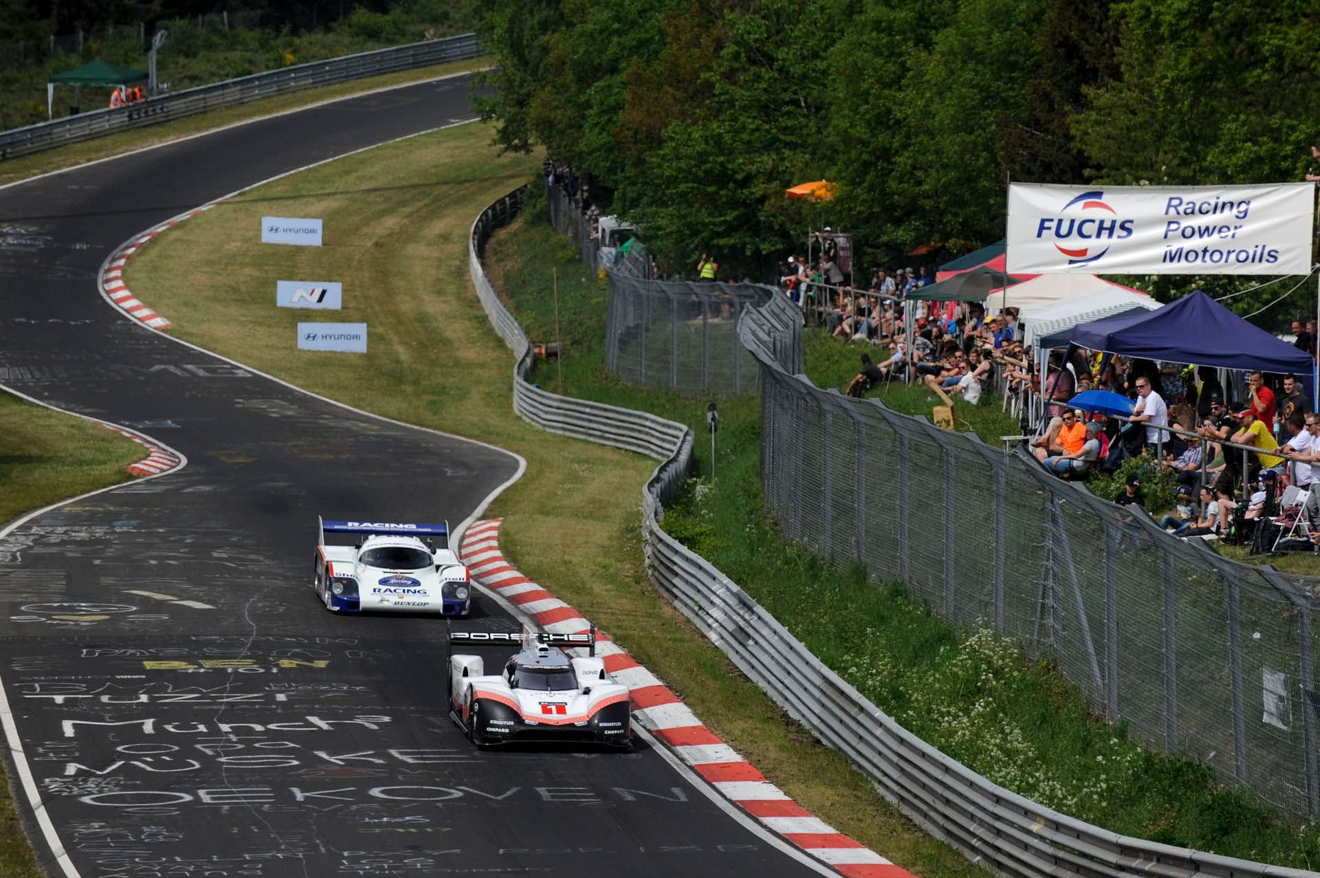 Porsche 919 Hybrid Evo and 956 at Nurburgring (8)