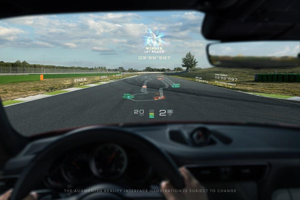 Porsche WayRayAugmented Reality HUD (1)