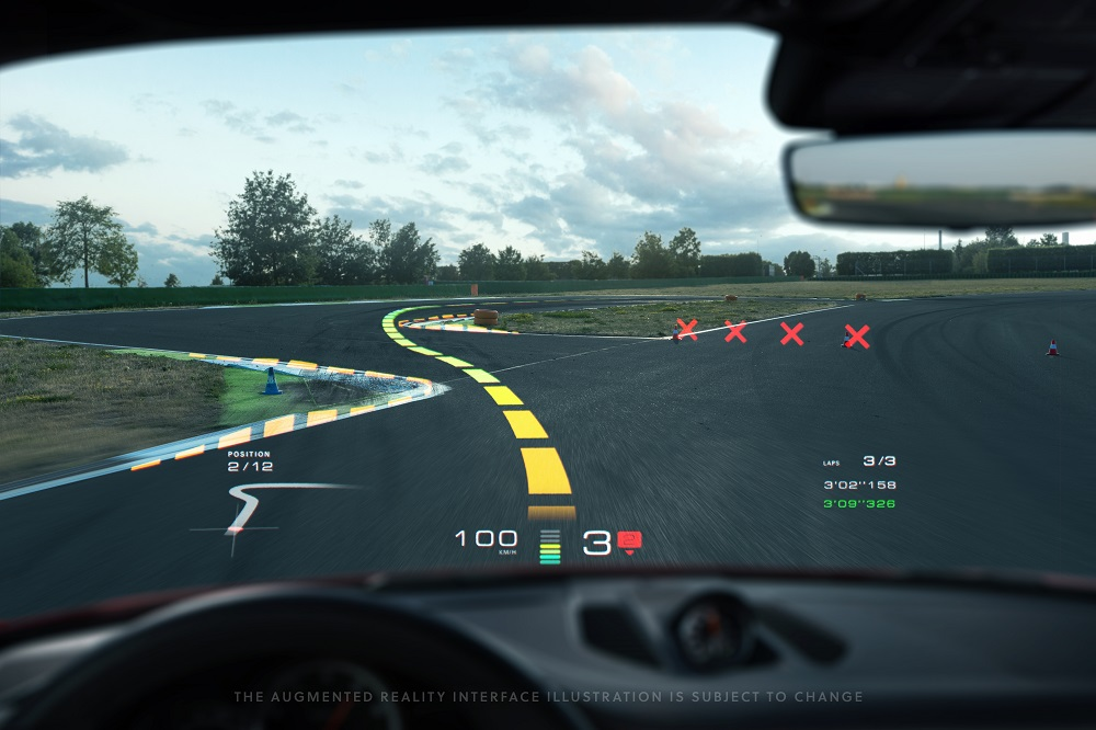 Porsche WayRayAugmented Reality HUD (4)