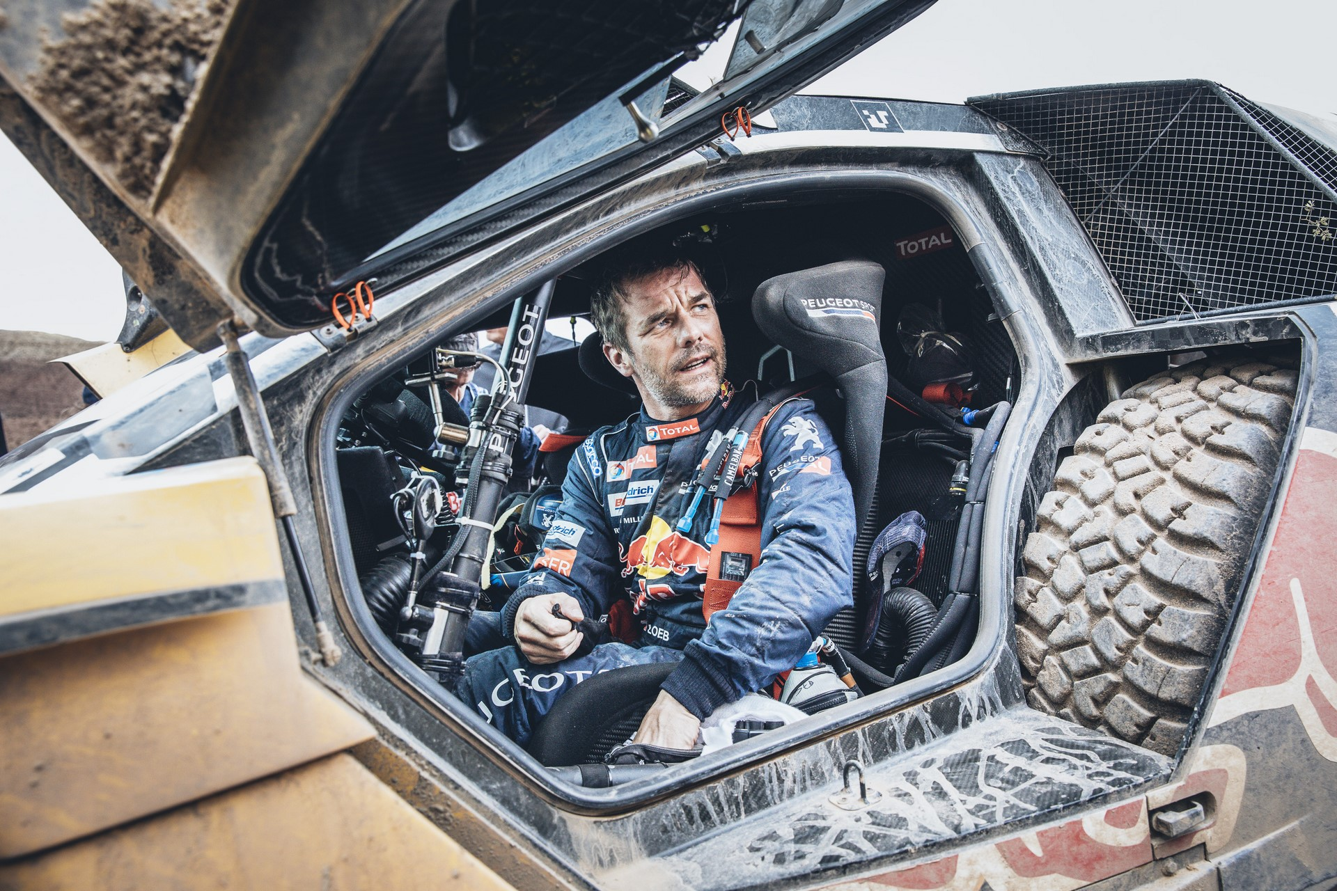 Sebastien Loeb (FRA) of Team Peugeot TOTAL at the end of the stage 3 of Rally Dakar 2017 from San Miguel de Tucuman to San Salvador de Jujuy, Argentina on January 4, 2017