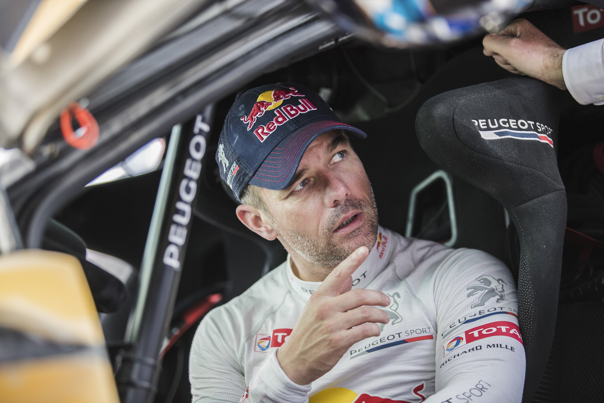 Sebastien Loeb (FRA) of Team Peugeot TOTAL seen  at the bivouac after stage 2 of Rally Dakar 2018 from Pisco to Pisco, Peru on January 7, 2018.