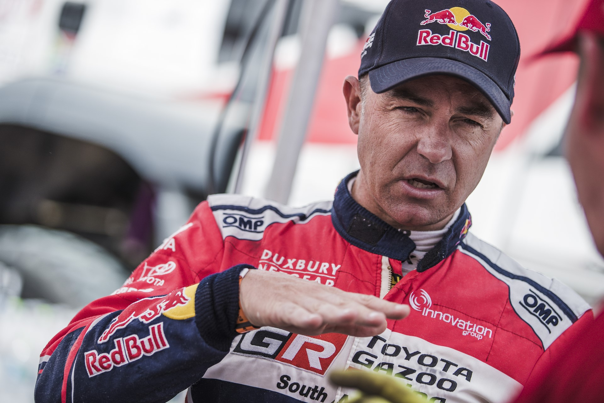 Giniel de Villiers (ZAF) of Toyota Gazoo Racing SA seen  at the bivouac after stage 2 of Rally Dakar 2018 from Pisco to Pisco, Peru on January 7, 2018.