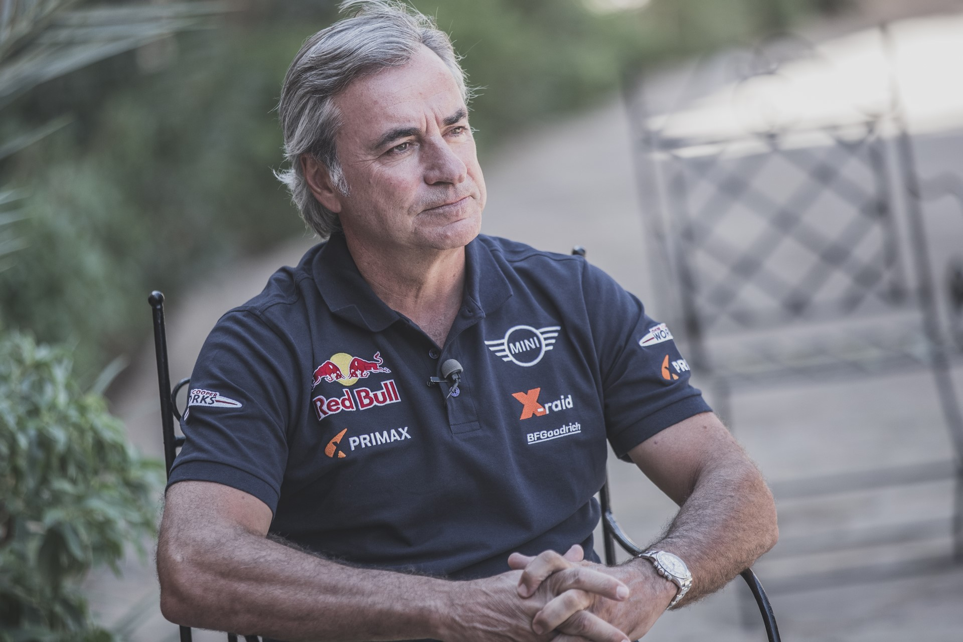 Carlos Sainz (ESP) gives an interview in Erfoud , Morocco on September 24, 2018