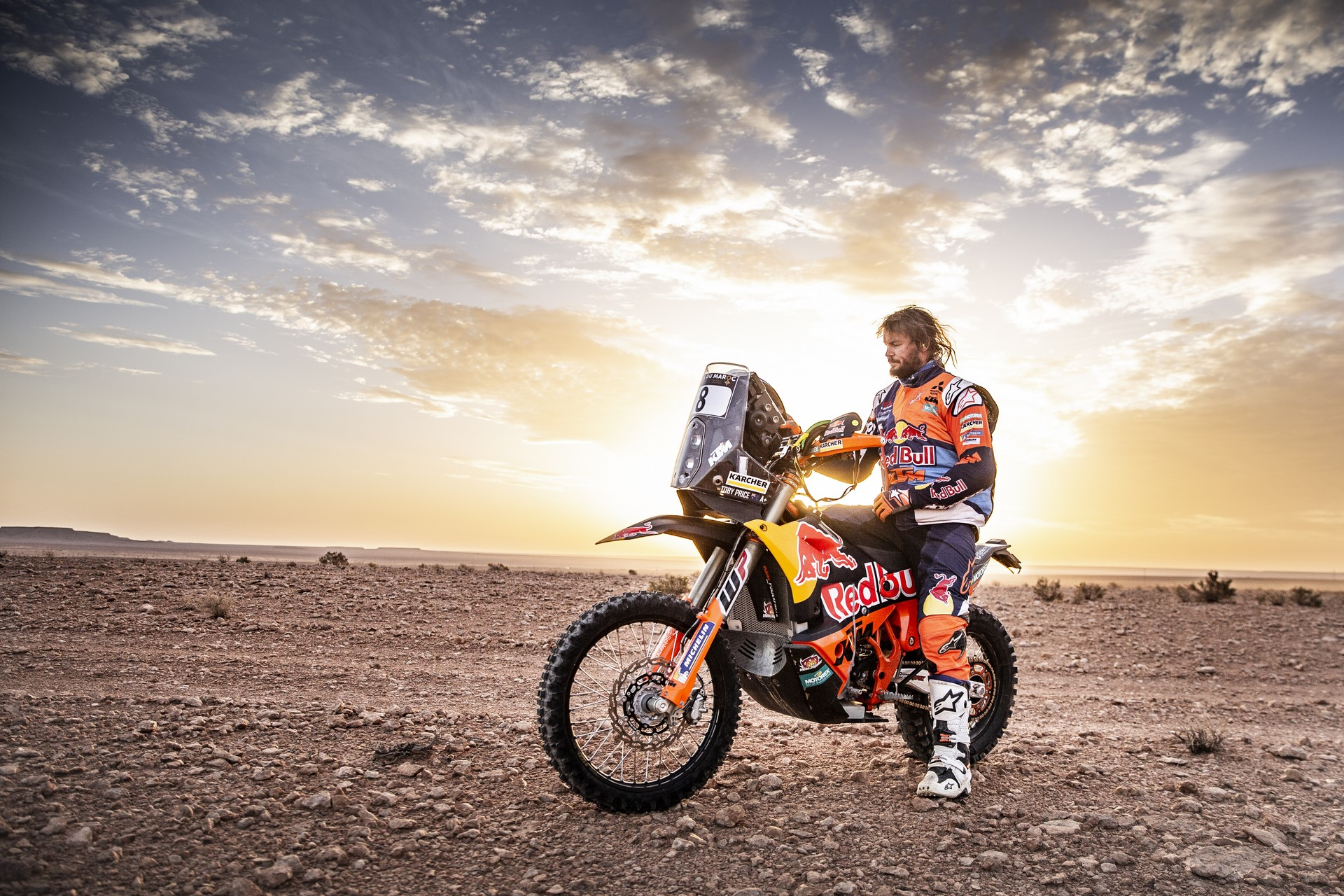 Toby Price before the 2nd stage of Rally Du Maroc in Erfoud, Morocco on October 06, 2018