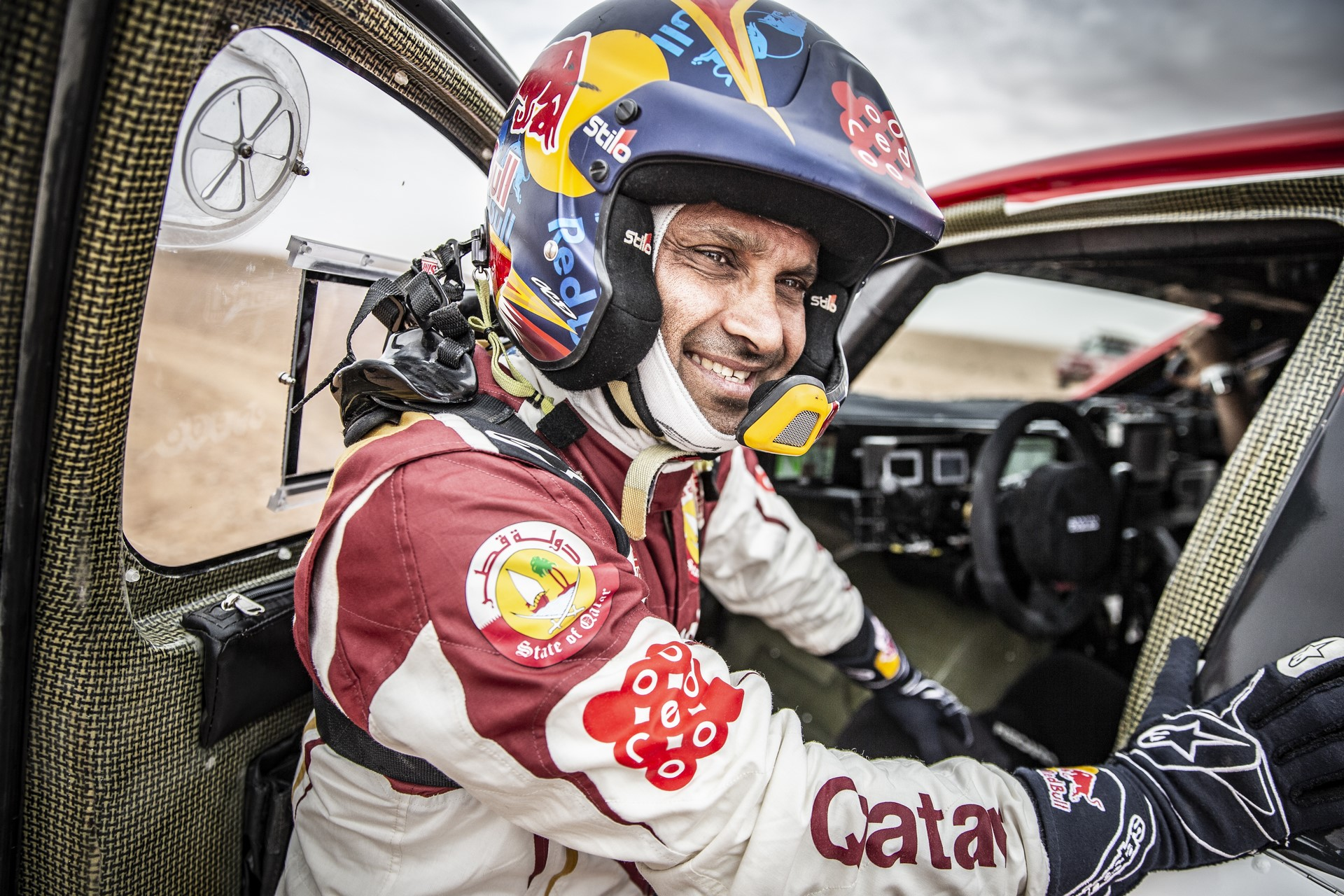 Nasser Al Attiyah at the 2nd stage of Rally Du Maroc in Erfoud, Morocco on October 06, 2018