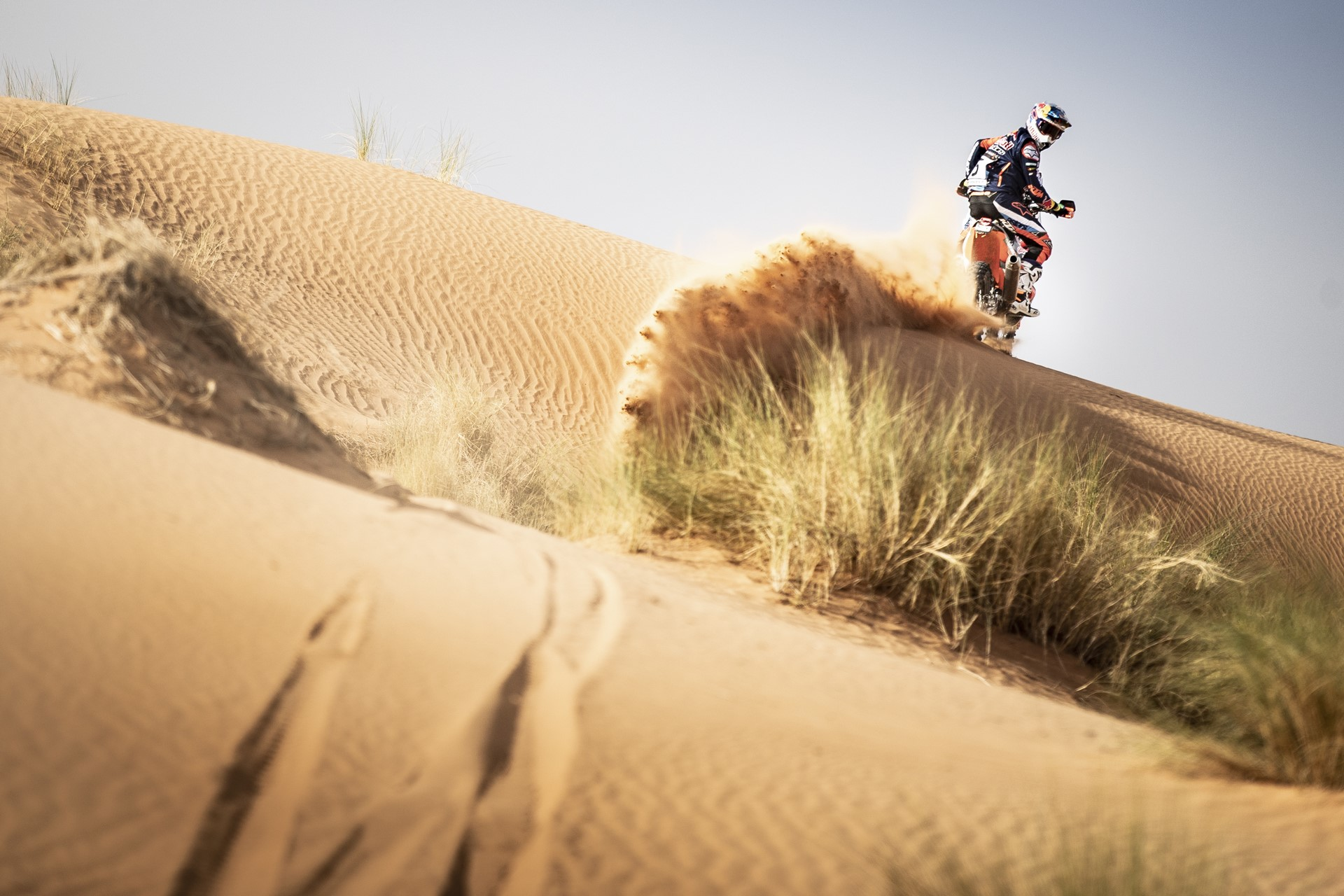 Sam Sunderland at the 2nd stage of Rally Du Maroc in Erfoud, Morocco on October 06, 2018