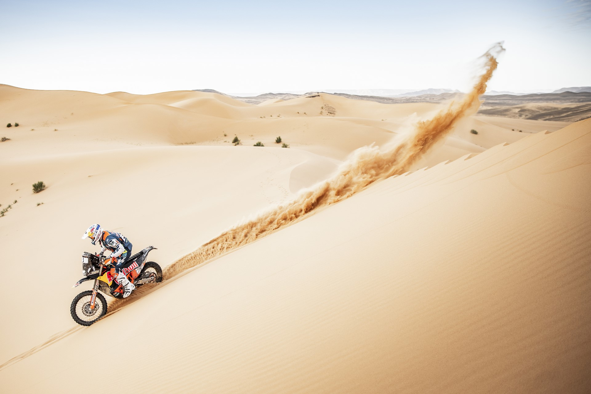 Matthias Walkner at the 4th stage of Rally Du Maroc in Erfoud, Morocco on October 08, 2018
