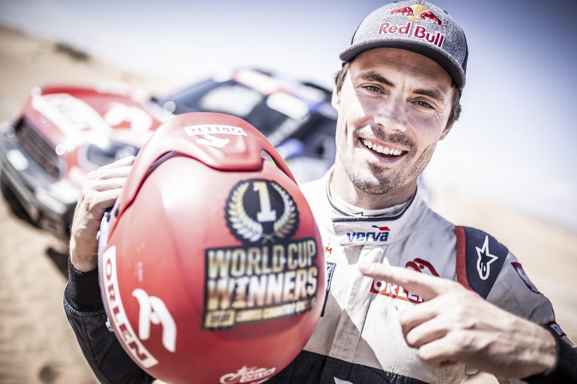 Jakub Przykonski becoms the new world champion, Rally Du Maroc in Erfoud, Morocco on October 08, 2018