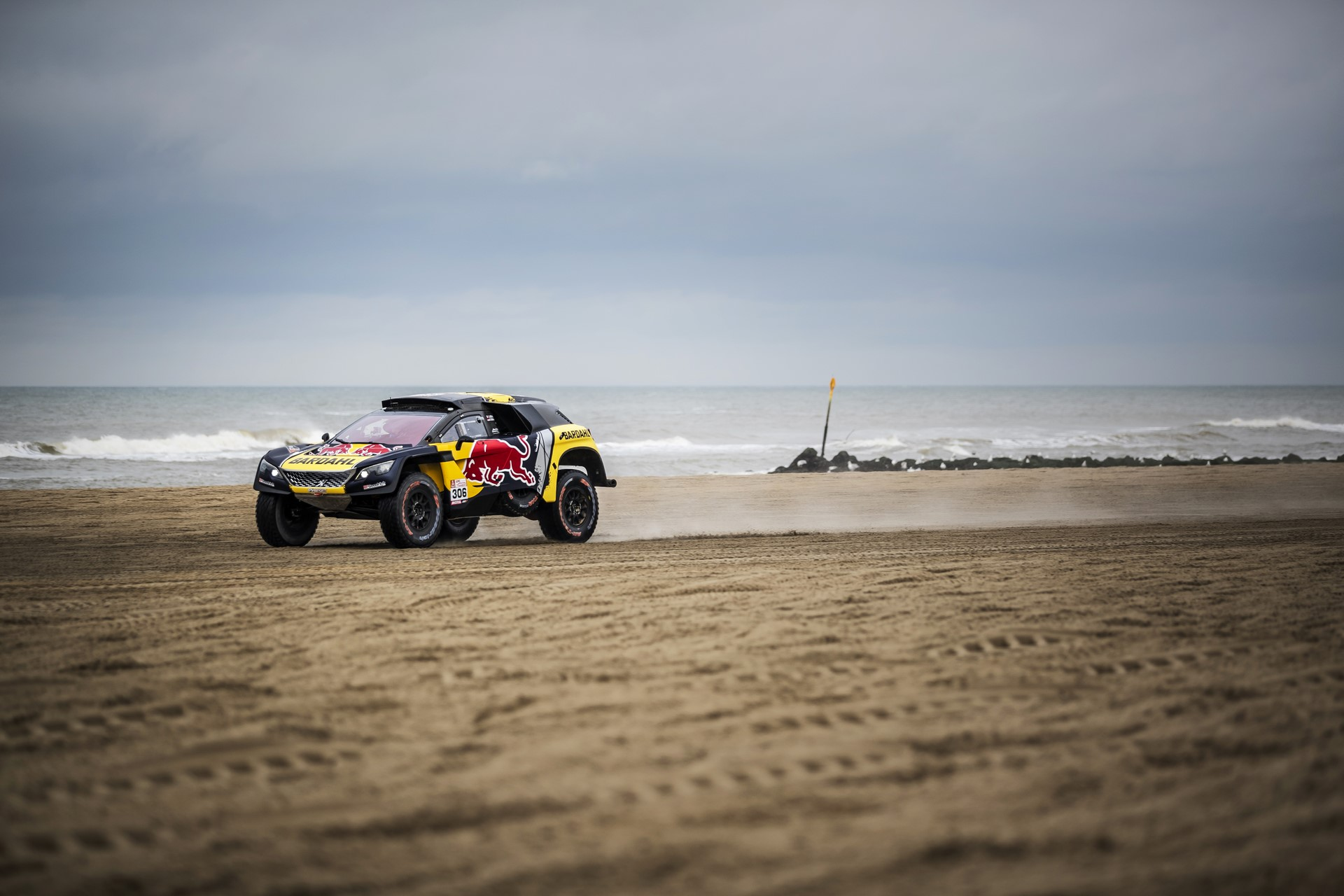 Sebastian Loeb performs during the Red Bull Knock Out in Scheveningen, The Netherlands on Saturday 10 November, 2018