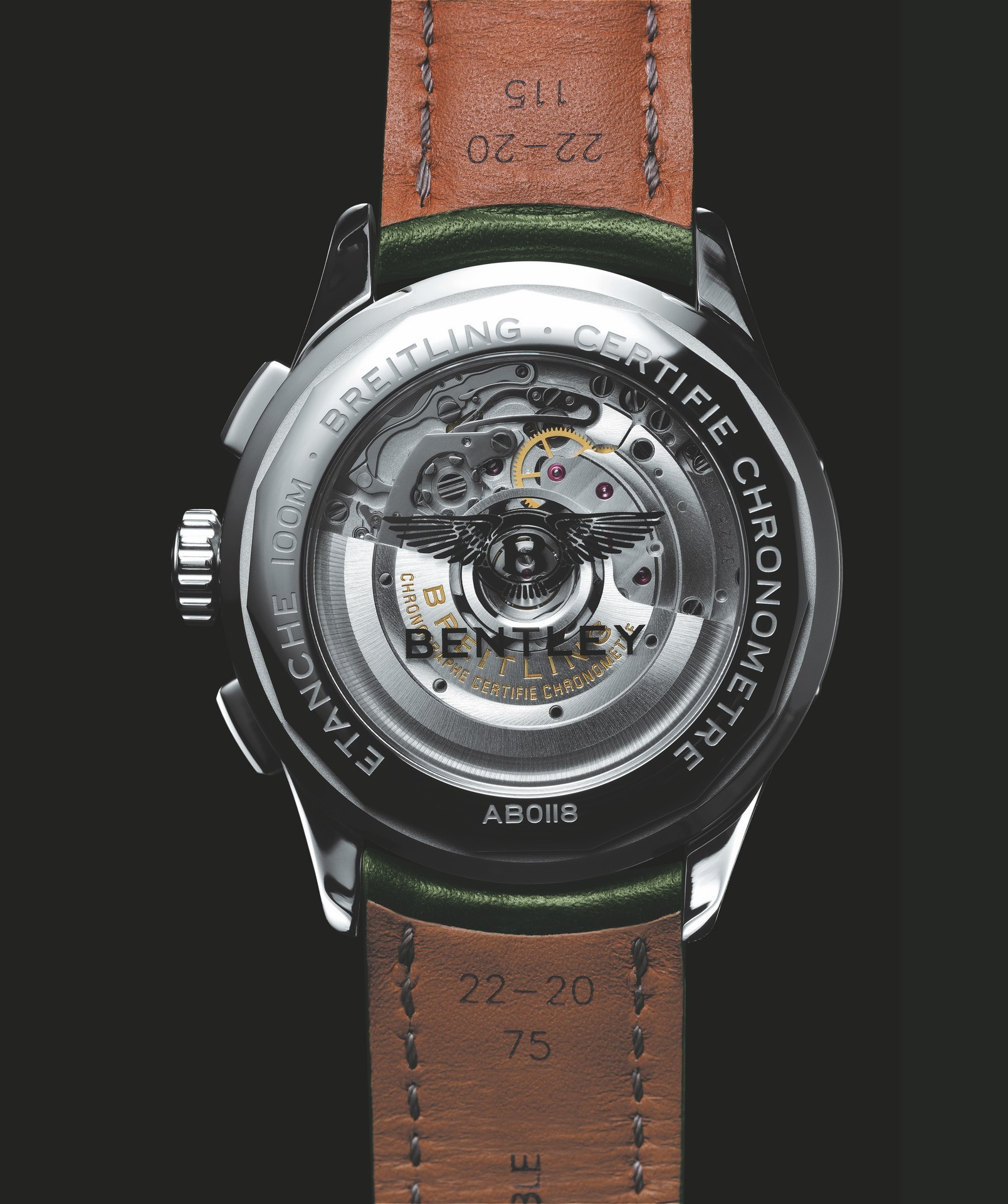 Premier B01 Chronograph 42 Bentley British Racing Green - caseback