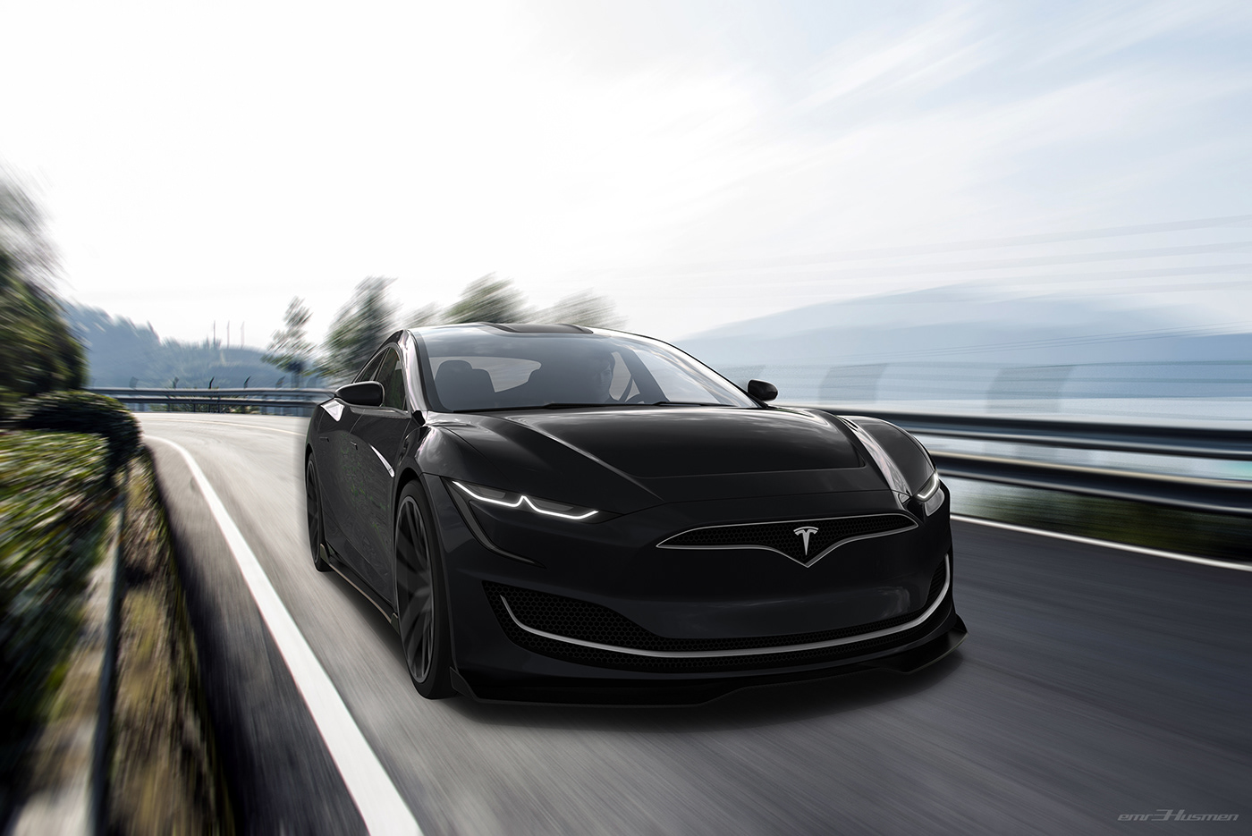 Tesla Model S Second generation renderings 1