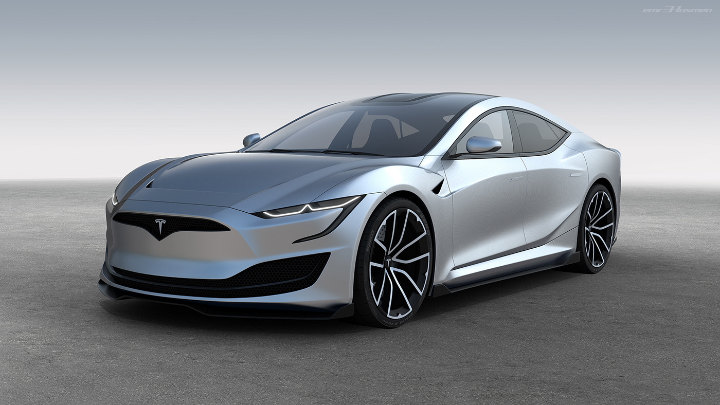 Tesla Model S Second generation renderings 10