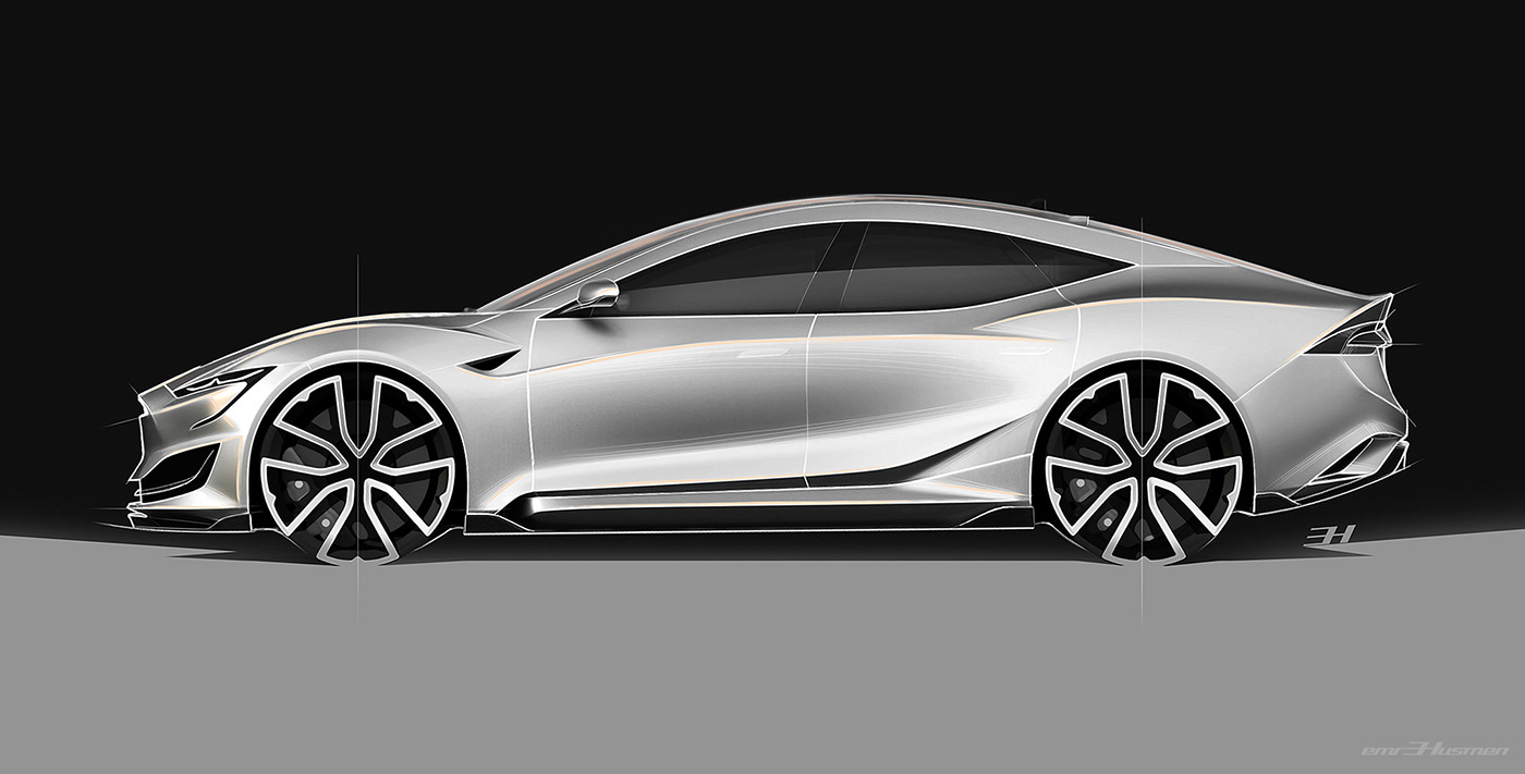 Tesla Model S Second generation renderings 16