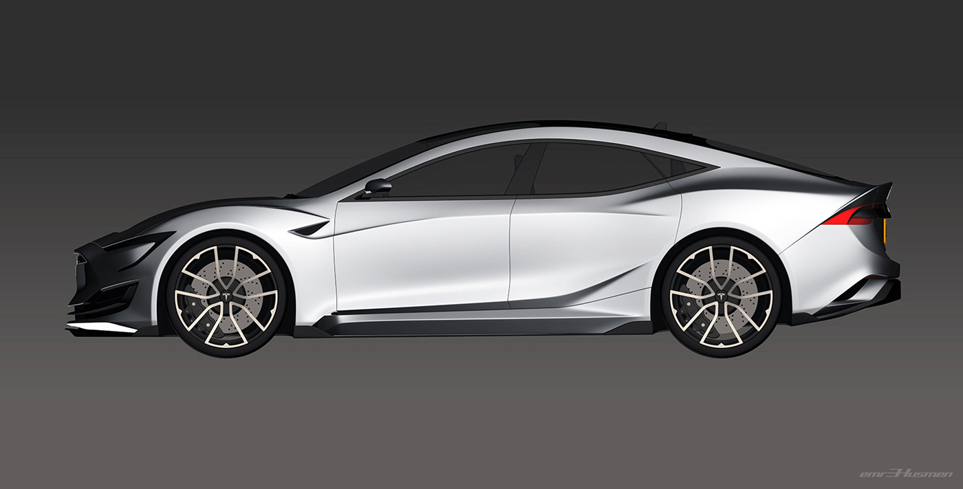 Tesla Model S Second generation renderings 19