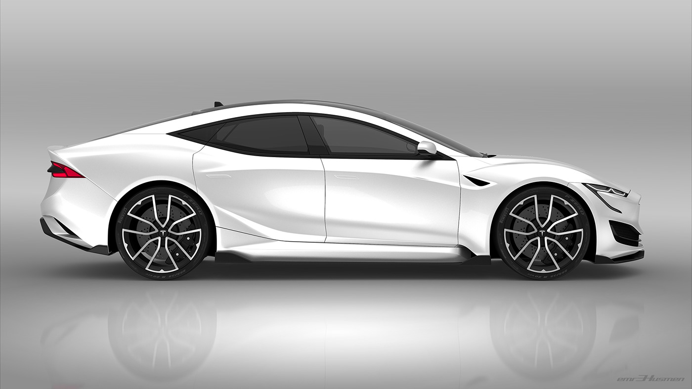 Tesla Model S Second generation renderings 2